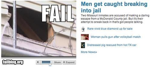 breaking in,failboat,jail,newspaper,Probably bad News,wait what