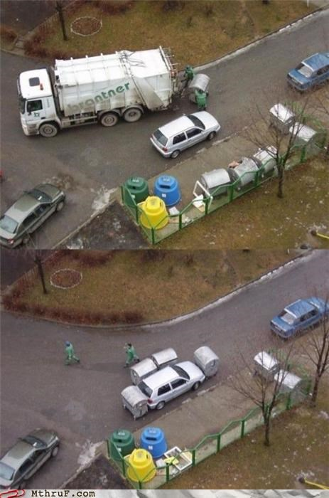 car comeuppance dickhead dumpsters garbage men justice karma parallel parallel parking park like a dickhead parking payback punkd PWND russia street justice trash vigilante - 3962776576