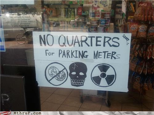 nickels,quarters,radioactive,signs