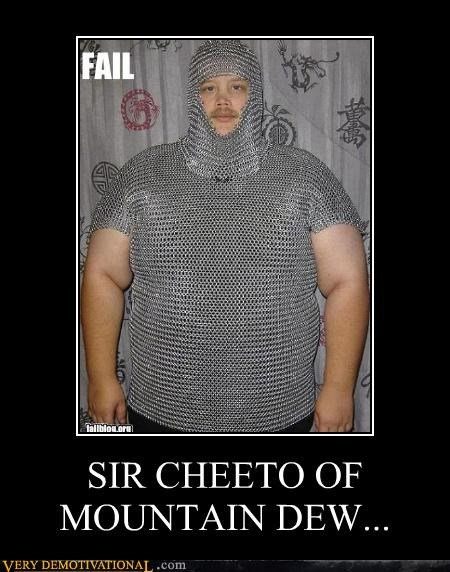 america awesome chainmail cheetos FAIL idiots mountain dew nerd - 3963870720