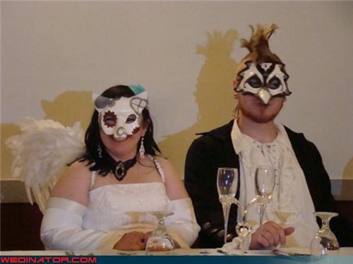bizarre wedding photo bride and groom photo confusing Crazy Brides crazy groom fairy wings fashion is my passion folklore performance wedding funny wedding photos surprise themed wedding were-in-love Wedding Themes weird wedding couple wtf