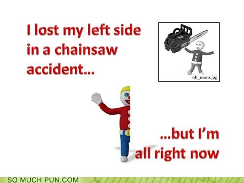 chainsaws half mister bill oh nooooo puns television - 3965149952