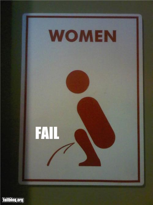 bathrooms failboat gender confusion signs urinating women