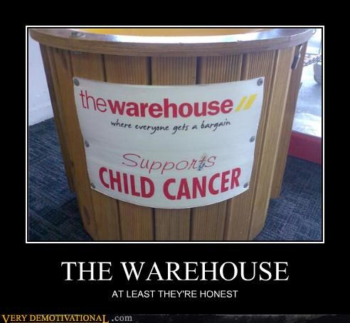 THE WAREHOUSE AT LEAST THEY'RE HONEST