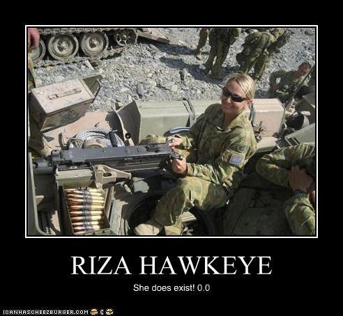 RIZA HAWKEYE She does exist! 0.0