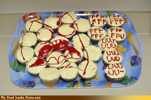 cupcakes,FFFFUUUU,fu,icing,platter,Rageguy,Sweet Treats