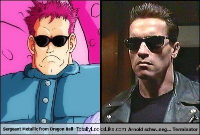 Arnold Schwarzenegger dragonball z sergeant metallic