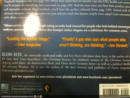 book,funny,glenn beck,news,quote,troll,wtf