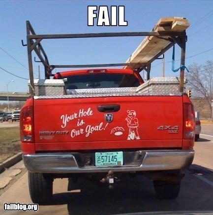 business failboat innuendo slogan truck - 3968953344