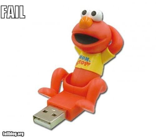 elmo failboat flash drive innuendo technology