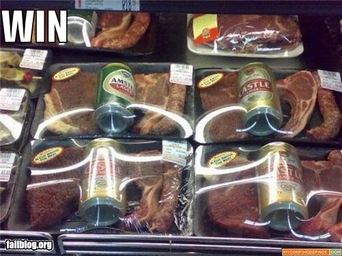 beer combination failboat food meat package win yummy - 3969190400
