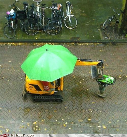 construction rain umbrella