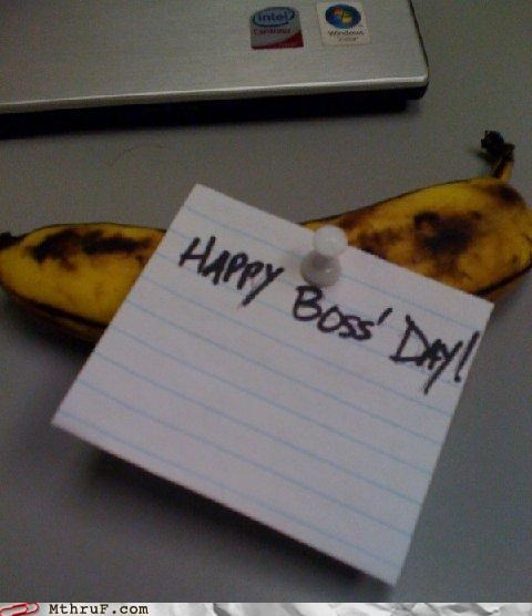 banana boss-day chump cruel cubicle prank dick move dickhead fruit jerk mean passive aggressive prank rotten wiseass