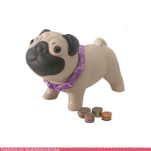 cute piggy banks figurine pug bank toys - 3971905024