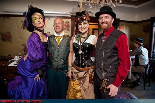 Crazy Brides crazy groom fashion is my passion funny wedding photos Steampunk steampunk wedding themed wedding Victorian wedding vintage were-in-love Wedding Dress Costume wedding party Wedding Themes - 3971992832