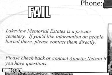 Ad contacts dead failboat newspaper telephone wait what - 3972398336