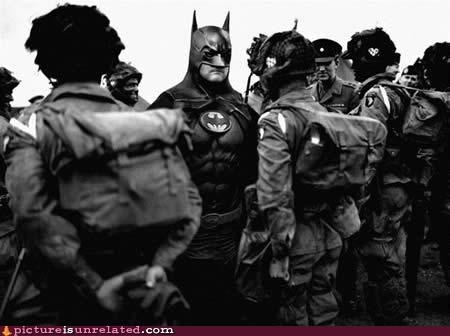 army,bat man,costume,soldiers,wtf