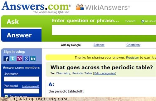 answers.com,i-get-it-its-a-pun,periodic table,tablecloth