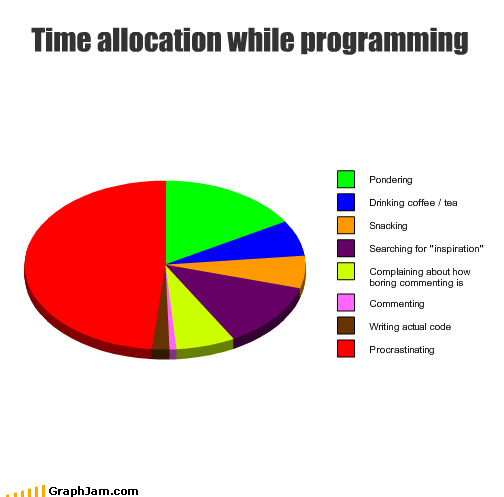 Time allocation while programming