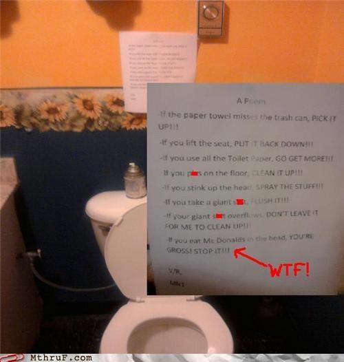 crude eww janitor sign - 3974798592