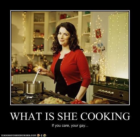 WHAT IS SHE COOKING If you care, your gay...