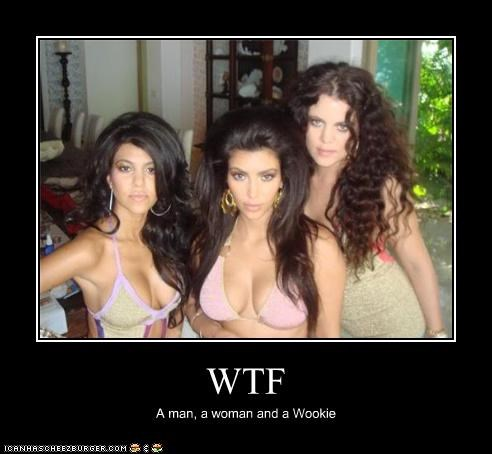 WTF A man, a woman and a Wookie