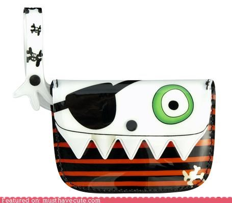bag coin purse halloween monster plastic wallet - 3975354368