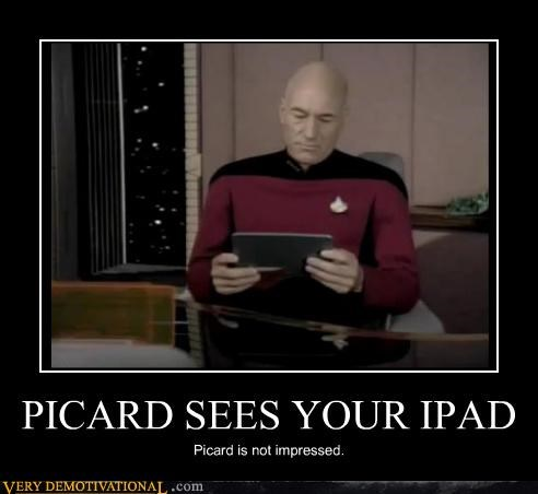 apple hilarious ipad not impressed picard Star Trek TNG - 3975572480