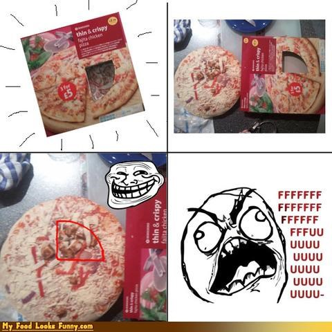 deceptive FFFFUUUU Memes packaging pizza toppings tricky trollface
