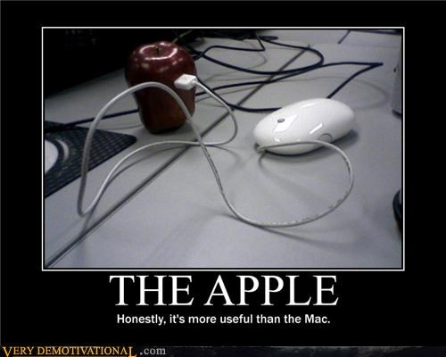 apples computers food idiots mac mouse nom nom nom puns technology - 3977324288