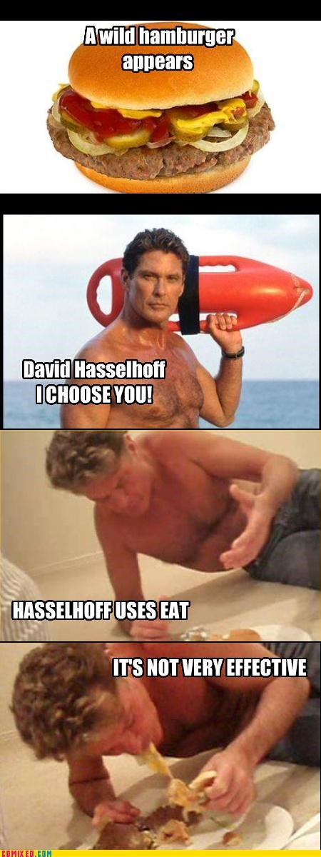 celebutard celebutards david hasslehoff drinking food Pokémon very effective - 3977692672