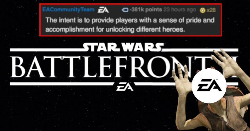 EA Causes An Internet Uproar Over Horribly Handled Microtransactions in 'Star Wars: Battlefront 2', Gets Most Down-Voted Reddit Comment of All Time
