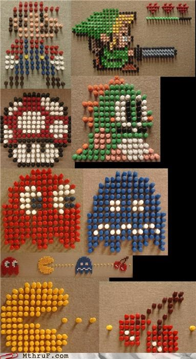 bubble bobble,epic,push pins,video game,zelda