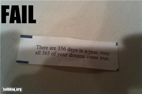 365 days in the year failboat food fortune cookies g rated - 3980677632