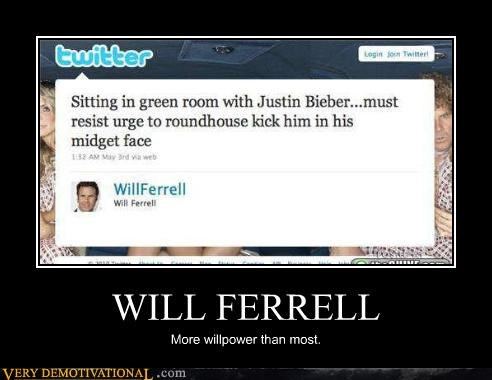 comedians elf hilarious justin bieber Mean People puns twitter violence Will Ferrel - 3981236224