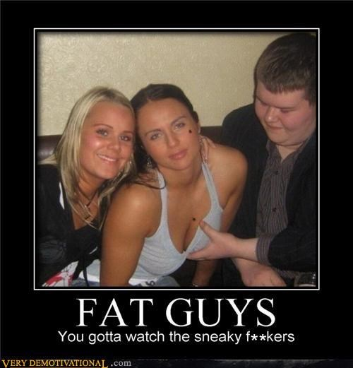 bar,boobs,caught,copping a feel,fat guys,idiots,whoops