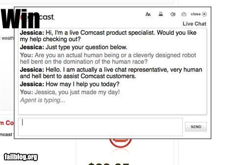 comcast,customer service,failboat,g rated,humans,robots,win,world domination