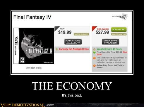 capitalism final fantasy re-selling Sad the economy the marketplace Videogames - 3982743040