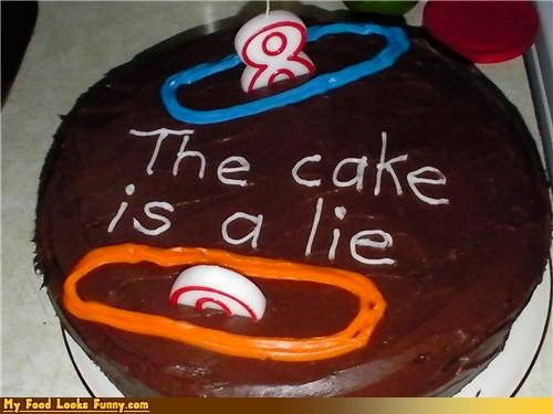 birthday birthday cake cake cake is a lie candles clever lie Portal Sweet Treats this cake is a lie video games - 3983220736