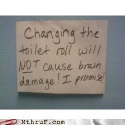 bathroom,brain damage,roll,toilet
