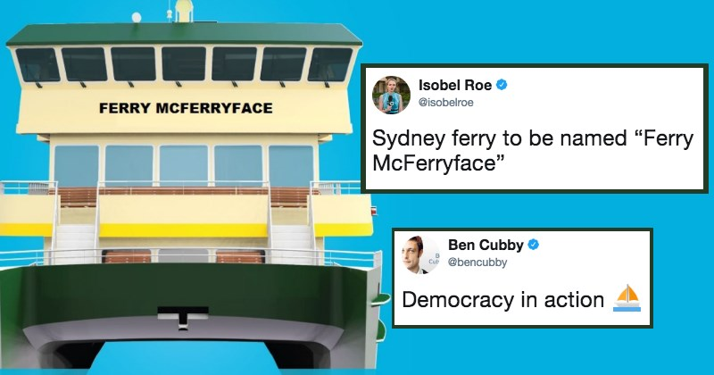 Sydney to Name New Ferry 'Ferry McFerryface' After Online Poll Gets Trolled