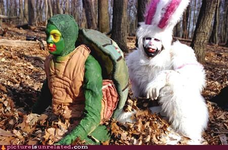 costume Forest jk rabbit turtle wtf
