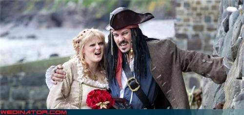 captain jack sparrow Crazy Brides crazy groom fashion is my passion funny wedding photos parrot pirate groom pirate themed wedding Pirates of the Caribbean themed wedding themed wedding were-in-love Wedding Themes - 3984900352