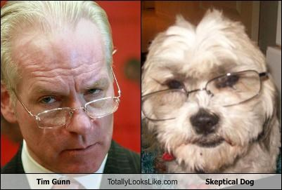 skeptical dog,Tim Gunn