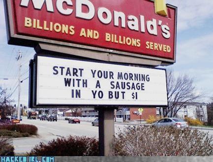 butt,McDonald's,sausage