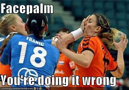 doing it wrong facepalm heerrp herpdederp soccer Sportderps - 3985884160