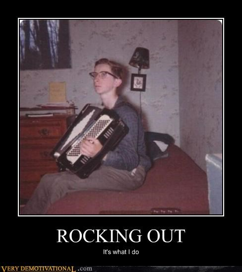 accordion,doing stuff,glasses,hilarious,nerd,rock star,verbs