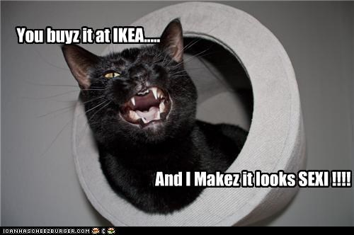 Y You buyz it at IKEA..... And I Makez it looks SEXI !!!!