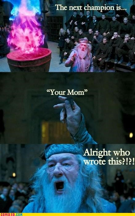 dumbledore,From the Movies,Harry Potter,Hogwarts,jokes,your mom