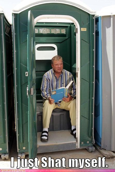 actor,bathroom,lolz,sci fi,Shatnerday,Star Trek,toilet,William Shatner